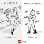 busy vs productive